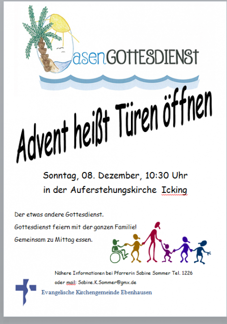 Flyer Oase Advent
